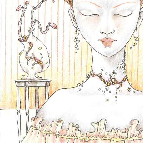 Perlenhalsband - Kopie