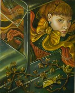 Autoportrait Öl auf Leinwand 40x50 cm 2015