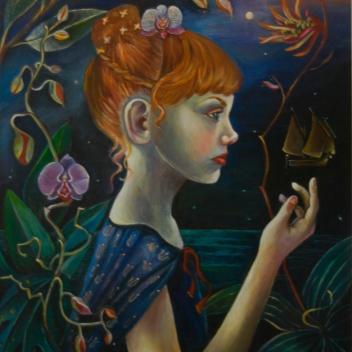 Mädchenbildnis Acryl auf Leinwand 50x60 cm 2014